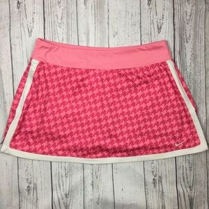 Nike Dri Fit Pink Houndstooth Tennis Skirt